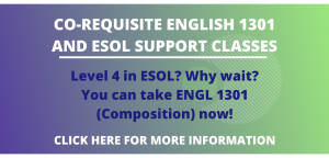 Click for info about co-requisite ESOL and Composition Class