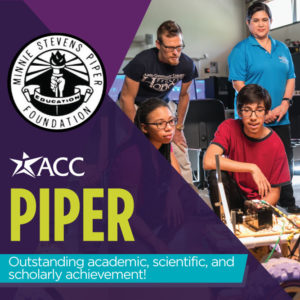 minnie stevens piper foundation outstanding academic scientific and scholarly achievement