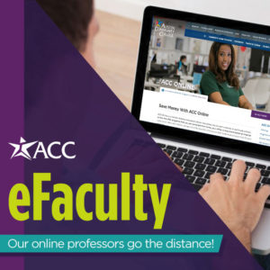 acc efaculty our online professors go the distance