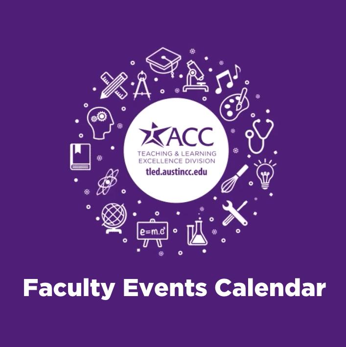 ACC TLED faculty events calendar