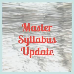 Master Syllabus Update