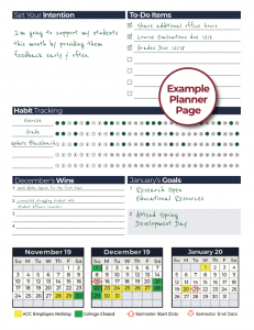 Example Planner Page