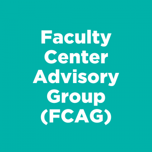 Faculty Center Advisory Group (FCAG)