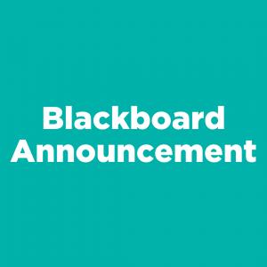 Blackboard Announcement
