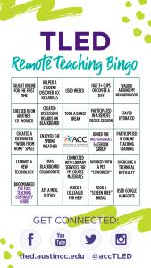 TLED Remote Teaching Bingo